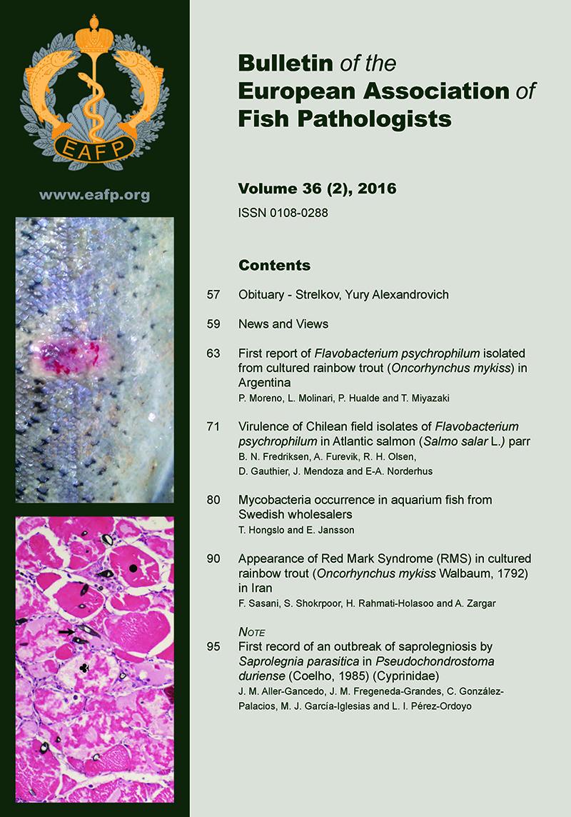 EAFP Bulletin 36(2) Cover