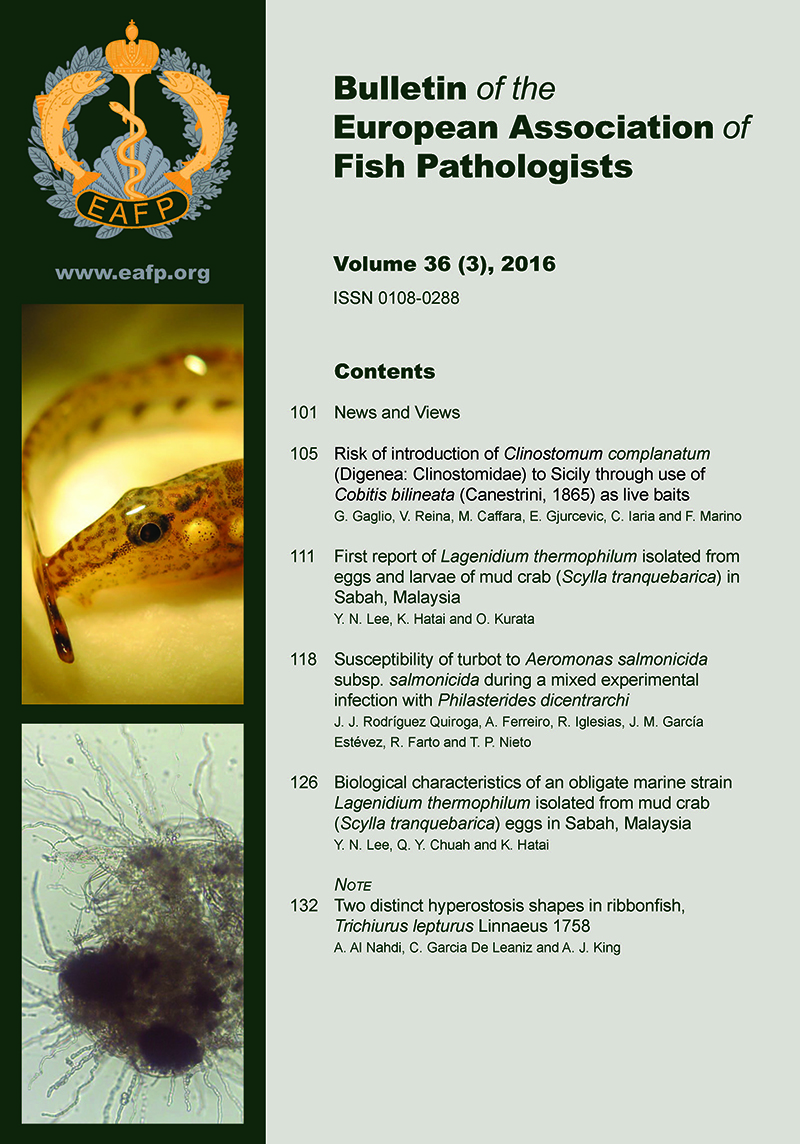 EAFP Bulletin 36(3) Cover